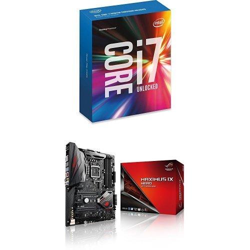Intel Boxed Core i7-6850K Processor (15M Cache, up to 3.80 GHz) FC-LGA14A 3.6 6 & ASUS LGA1151 DDR4 DP HDMI M.2 USB 3.1 ATX Motherboard  Bundle