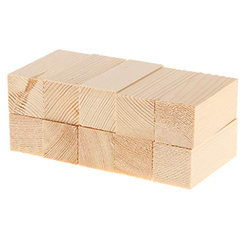 Block Balsa (Prettyia 10 Pieces 50/80/100mm Balsa Wood Stick Unfinished Woodcraft Rectangle Wooden Stick Dowel Blocks 20x20mm - 20x20x50mm)