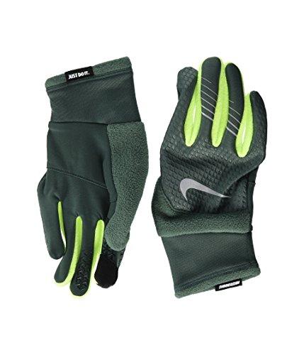Mens Therma-Fit Elite 2.0 Running Gloves (Vintage Green/Volt/Silver, Large)