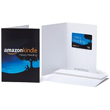 Amazon.com $30 Gift Card in a Greeting Card (Amazon Kindle Design)