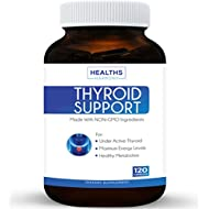 Best Thyroid Support Supplement 120 Capsules (NON-GMO) Improve Your Energy & Increased Metabolism For Weight Loss - With Iodine & Ashwagandha Root for Thyroid Health - 100% Money Back Guarantee