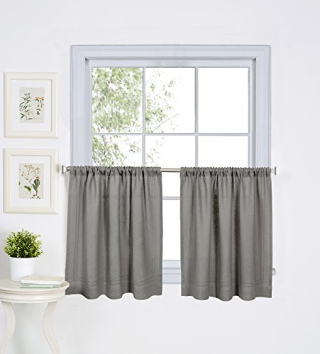 - Elrene Home Fashions 026865885293 Cameron Kitchen Tier Window Curtain, Set of 2, 30