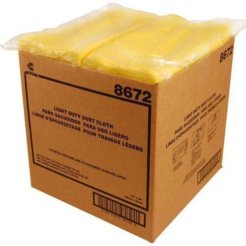 CHICOPEE Stretch n Dust 8672 Light Duty Dust Cloth, Yellow, 12'' x 24'' for All Surfaces, Furniture, Printers, Electronics, No Spray Needed (Case of 480, 12 bags of 40) by Chix