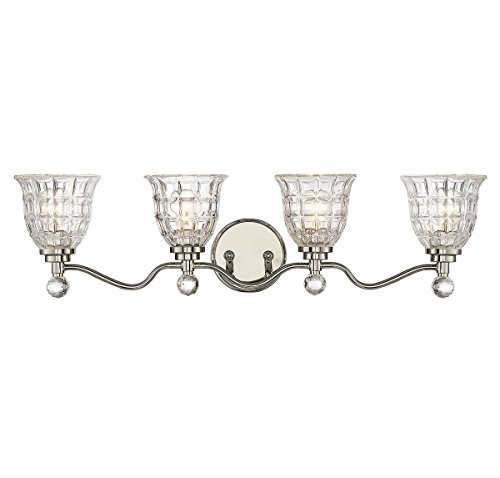Savoy House 8-880-4-109 Birone 4-Light Vanity Bar in Polished Nickel
