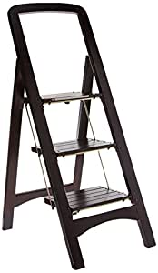 Cosco Rockford 11255mgy1 Wood Step Stool 3 Step Mahogany