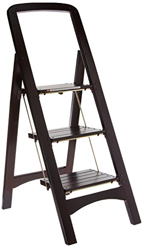 Cosco Three Step Rockford Wood Step Stool, -