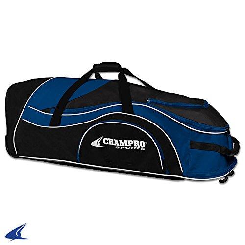 Champro Pro Plus Catchers機器バッグ B01HQCF9JG Champro Sports Catcher's Roller Bag, Scarlet, 36