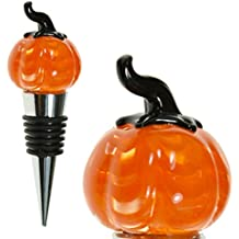 Glass Pumpkin Wine Bottle Stopper (20+ Designs to Choose From) - Colorful, Unique, Handmade, Eye-Catching Decorative Glass Wine Bottle Stopper … (Pumpkin)