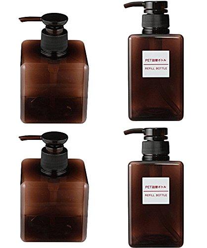 ea2838d0735b Amazon.com: 4 of MOMA MUJI PET Rectangular Pump Bottle 250ml and ...