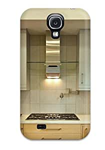 Hard Plastic Galaxy S4 Case Back Cover,hot Modern Silver Backsplash And Cabinets With Range Hood Case At Perfect Diy