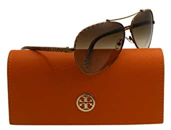 Tory Burch Sunglasses - TY6021 / Frame: Brown Python Lens: Brown Gradient
