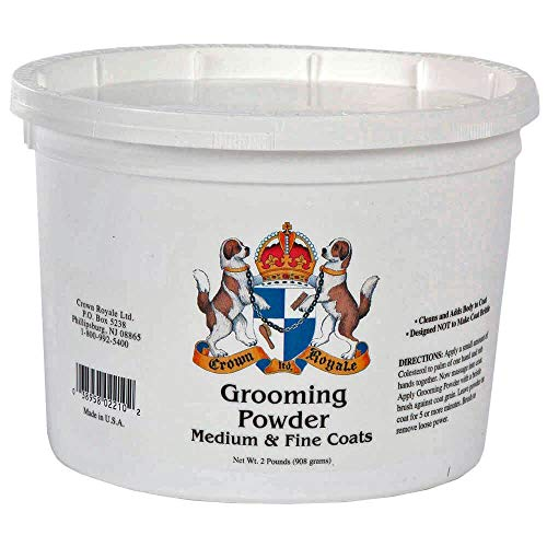 Crown Royale 0002210 Medium Fine Pet Grooming Powder, 2 lb