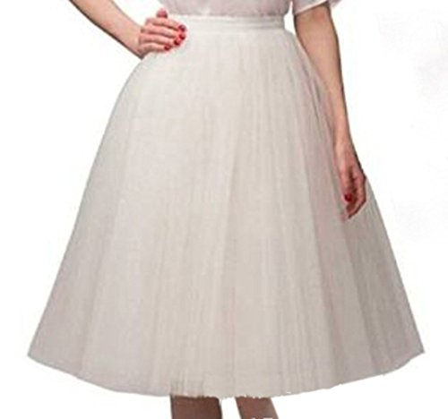 De la Mujer Corto Vintage falda Petticoat Ballet tutú de burbujas Multicolor Beige