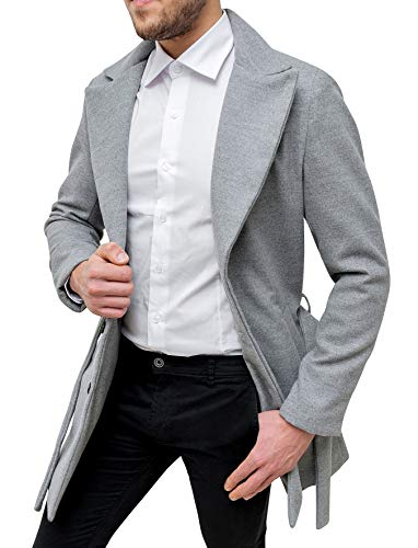Grigio Trench Cappotto Sartoriale Invernale Elegante Uomo fqgPxwR