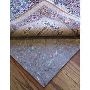 """5'x7' Rug Pads for Less Super Premium (TM) Dense 100% Felt Jute 1/3"""" Thick Rug Pad for Hard Floors and Exclusive Rug Pads for Less(TM) Custom Cutting"""