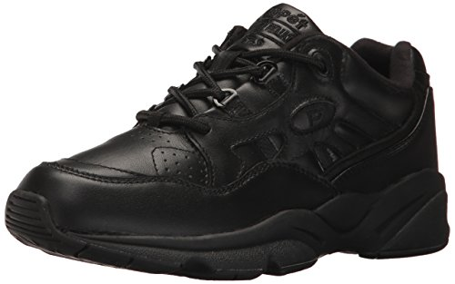 Propet Men's Stability Walker Sneaker, Black, 12 3E US