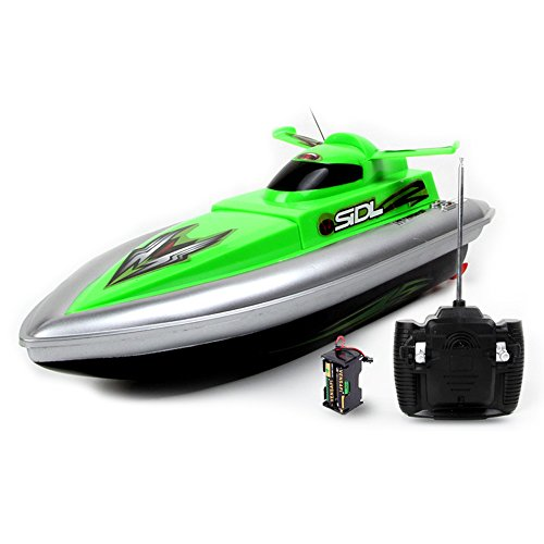 PowerLead RC Racing Boat 4CH Mini High-speed RC Patrol Boat for Kids Children review