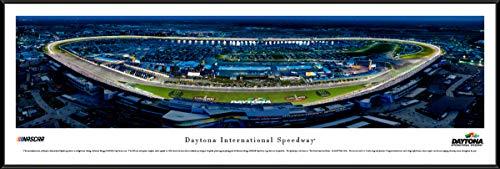 Daytona International Speedway - Night Race - Standard Framed NASCAR Print by Blakeway Panoramas