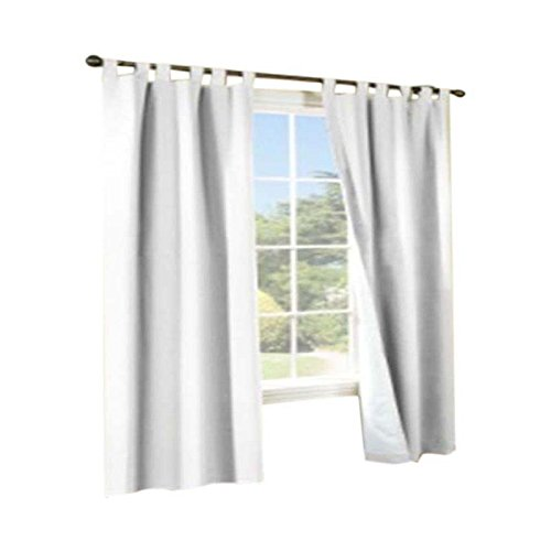 Commonwealth Home Fashions Thermalogic Weather Insulated Cotton Fabric 80 X 63 Tab Panels Pair White