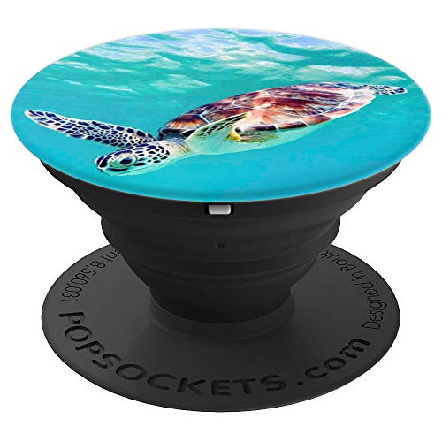 Cute Sea Turtle Hawaiian Honu Pop Sockets - PopSockets Grip and Stand for Phones and Tablets for $<!--$14.99-->