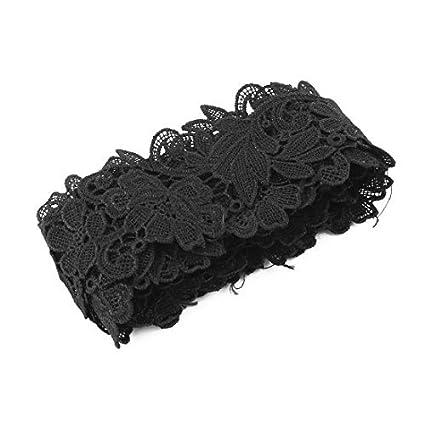eDealMax poliéster Familia del arte de DIY de Coser ropa escote Falda decoración Con borde de
