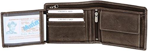 Portamonete Thomson formato orizzontale in pelle hunter (pelle integrale), colore:Marrone