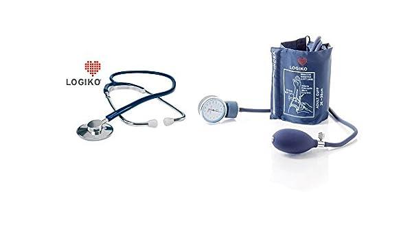 El estetoscopio con cabeza de aluminio + aneorides bymose tensiómetro: Amazon.es: Electrónica
