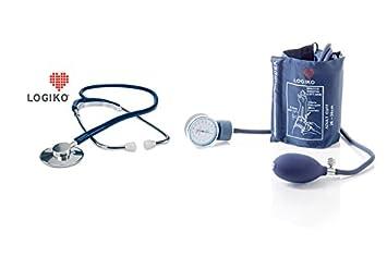 Estetoscopio con cabeza plana de Alluminium + aneorides Tensiómetro: Amazon.es: Electrónica