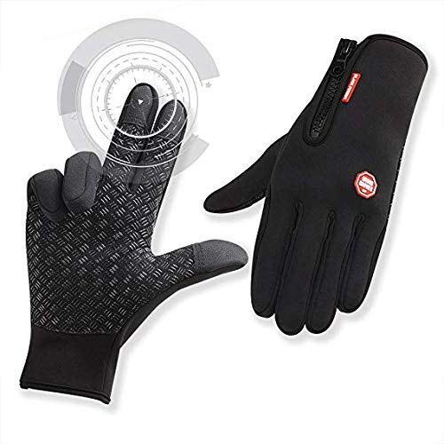 CATEYE Winter Bike Cycling Gloves Touch Screen Full Finger Sport Gloves Black