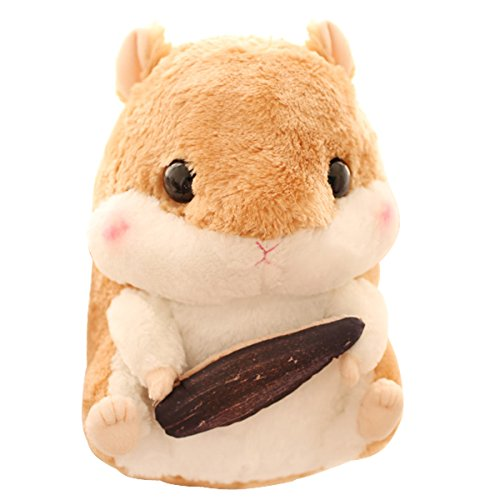 """Cuddly Hamster Stuffed Animal Doll 8"""" Soft Brown Mouse Toy K"""