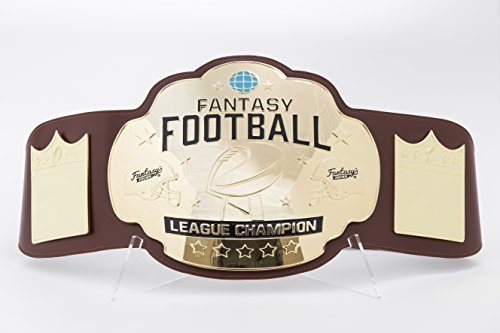 Fantasy Football Championship Belt Trophy - Brown/Gold by FantasyJocks