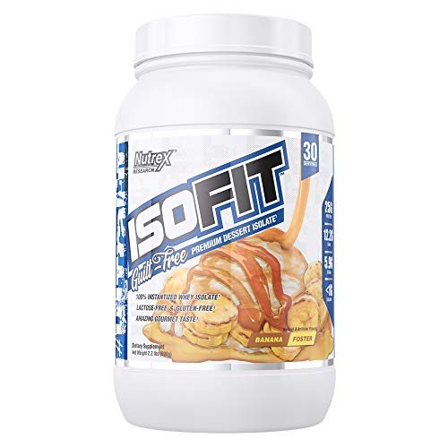 Nutrex Research IsoFit | Guilt Free Premium Dessert Whey Protein Isolate | Bananas Foster | 30 Servings … For Sale