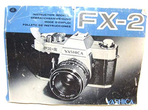 Yashica FX-2 35mm SLR Camera Original Instruction Manual Book