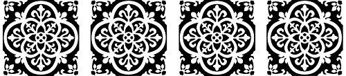 FloorPops FP2475 Gothic Peel & Stick Tiles Floor Decal Black (Fоur Расk) by FloorPops (Image #5)