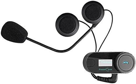 FreedConn Interphone Bluetooth pour casque de moto 1 unidad con auriculares duros Kit de syst/èmes de communication