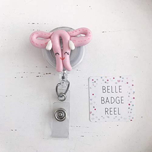 OBGYN Badge Reel Nurse Badge Reel, RN Badge Reel, Uterus Badge Reel