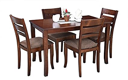 Royaloak Victor Four Seater Dining Table Set (Walnut)