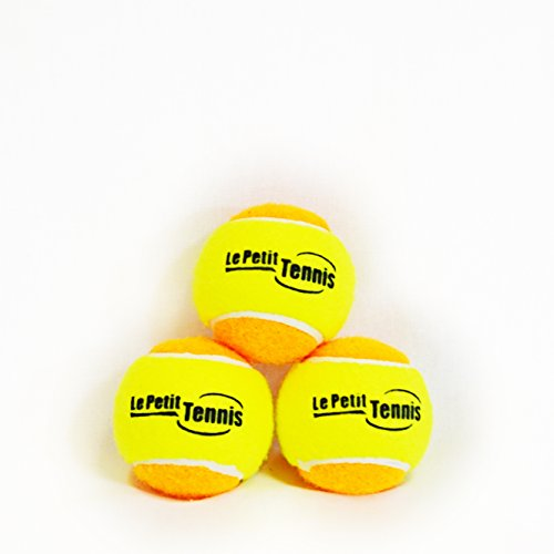 Le Petit Tennis – Pk3 Orange-Yellow (Stage 2) Tennis Balls for Kids – (For 60ft Court)