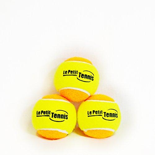 Quickstart Tennis - Le Petit Tennis - Pk3 Orange-Yellow (Stage 2) Tennis Balls for Kids - (For 60ft Court)