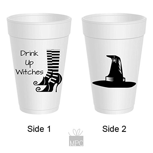 Halloween Styrofoam Cups - Drink Up Witches