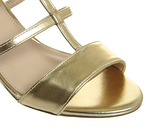 Office Monarch Caged Block Heels Gold KDy9oI2NWl