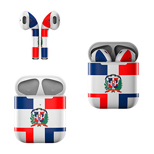 Skin Decals for Apple AirPods - Dominican Republic Flag - Sticker Wrap Fits 1st and 2nd Generation
