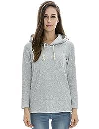 Bearsland Women's Winter Sporty Hoodie Breastfeeding Sweater Nursing Top