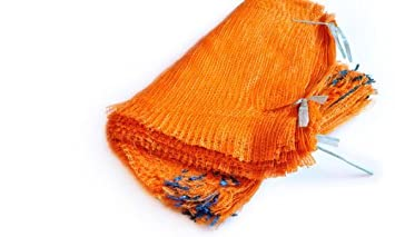 100 naranja Red bolsas 40 cm x 60 cm 15 kg con cordón ...