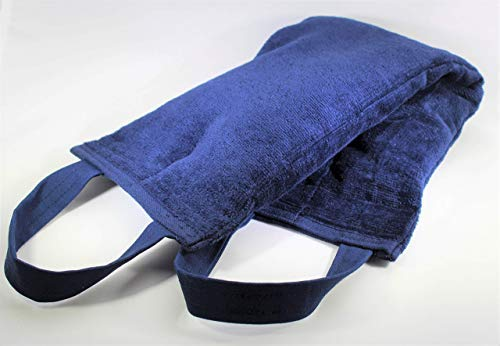 Microwavable Heating Pad, Handles, Arthritis Pain and Body, Plush Blue Velour, Natural Rice Filling, Handcrafted in The USA