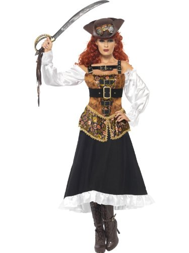 Smiffys Pirate Wench Costume (Steampunk Pirate Wench Costume)
