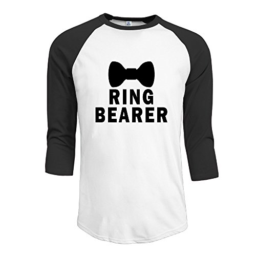 Men's Raglan Baseball T-Shirt Ring Bearer Bowtie Tuxedo