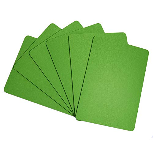 Topotdor Felt Placemats Set, Absorbent Table Mats Non Slip Washable Heat Resistant Place Mats for Wood Table (Green, Rectangle - Mats Felt