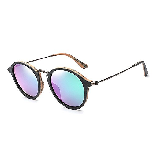 de colorida madera polarizadas de de marco de de de sol mujeres los gato gafas sol ojos del Retro Gafas sol Verde Gafas de UV de Gafas la c protección de sol unisex sol para hombres Gafas de Lente de las la 0f5wYq6