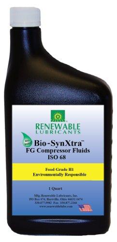 Renewable Lubricants Bio-SynXtra Food Grade ISO 68 Compressor Oil, 1 Quart (Renewable Lubricants Bio Food)